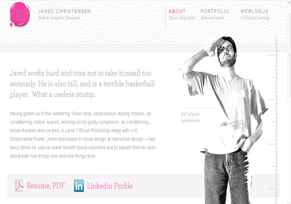about me page designs141 40 Groovy Examples of About Me Page Designs