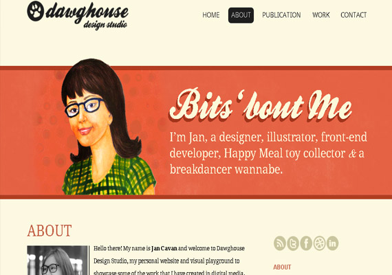 about me page designs181 40 Groovy Examples of About Me Page Designs