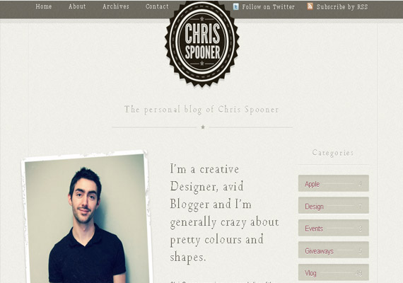 about me page designs71 40 Groovy Examples of About Me Page Designs