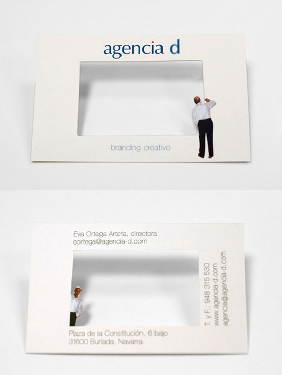 agencia d business card l1 55 Unusual Yet Creative Business Card Designs