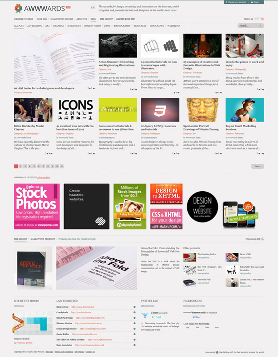 awwwards1 40 Handsome Websites Powered by WordPress CMS