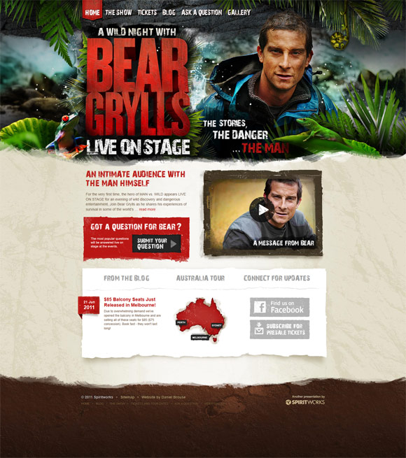bear grylls live1 40 Handsome Websites Powered by WordPress CMS | Inspirationfeed