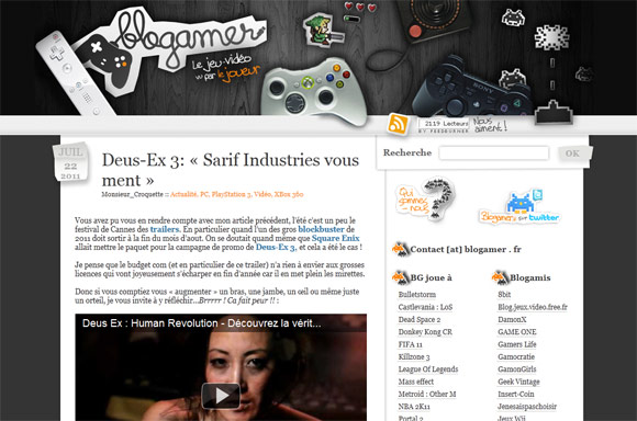 blogamer1 40 Handsome Websites Powered by WordPress CMS
