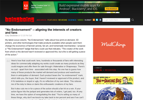 boingboing1 40 Handsome Websites Powered by WordPress CMS