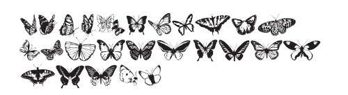 butterflies1 40 Free Highly Functional Dingbat Fonts