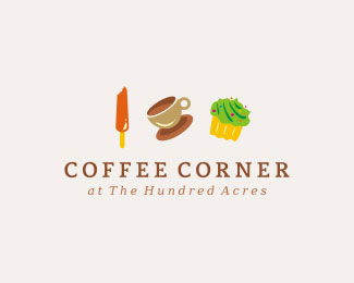 coffee corner1 30 Tasteful Coffee Logo Designs