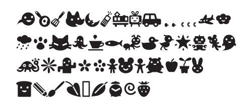 efon1 40 Free Highly Functional Dingbat Fonts