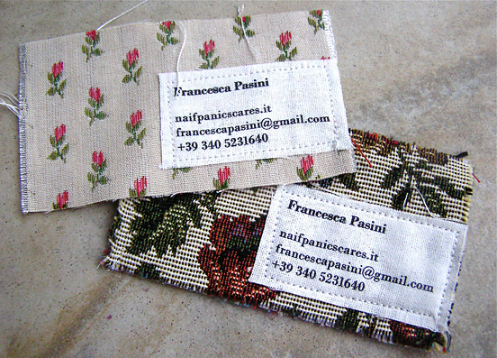 francesca pasini l1 55 Unusual Yet Creative Business Card Designs