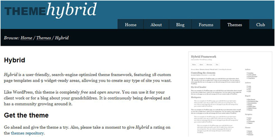 hybrid1 Top 10 Preferred WordPress Theme Development Frameworks