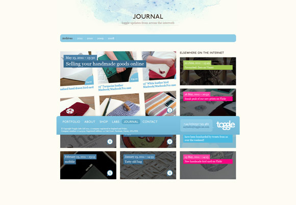 journaltoggle1 40 Handsome Websites Powered by WordPress CMS | Inspirationfeed