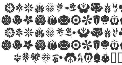 kalocsa flowers 40 Free Highly Functional Dingbat Fonts