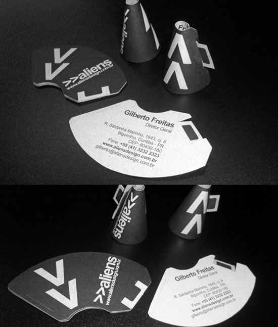 megaphone business card1 55 Unusual Yet Creative Business Card Designs