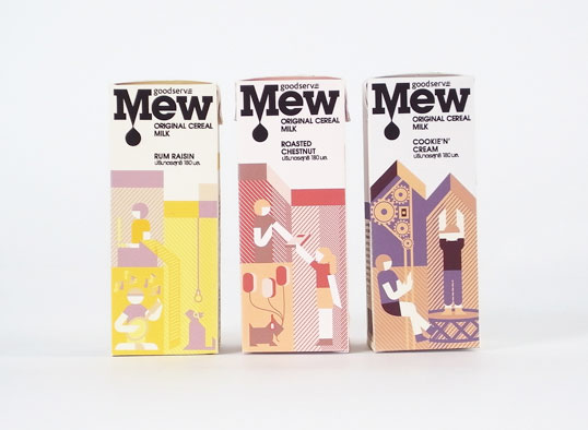 mew11 30 Wonderful Examples of Milk Packaging Design