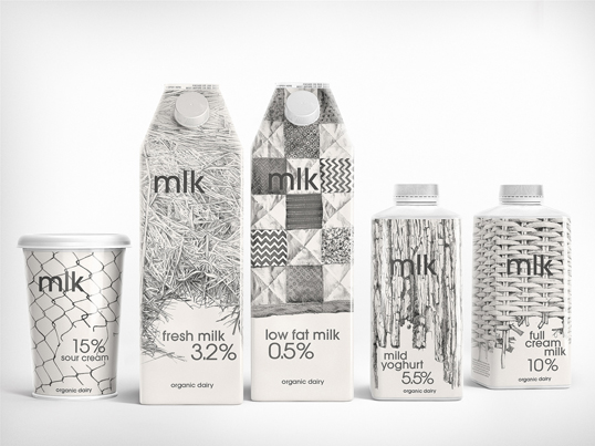 milk111 30 Wonderful Examples of Milk Packaging Design