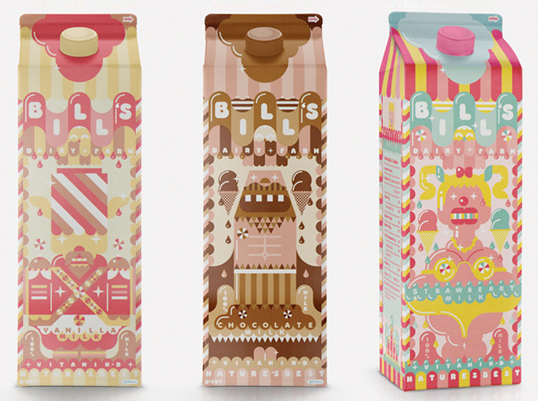 milkshake1 30 Wonderful Examples of Milk Packaging Design