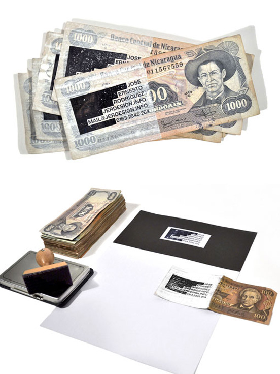 money businesscard l11 55 Unusual Yet Creative Business Card Designs