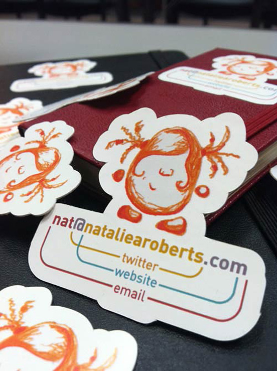 natalie roberts card l1 55 Unusual Yet Creative Business Card Designs