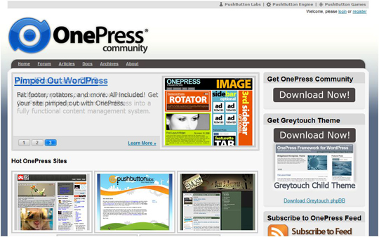 onepress1 Top 10 Preferred WordPress Theme Development Frameworks