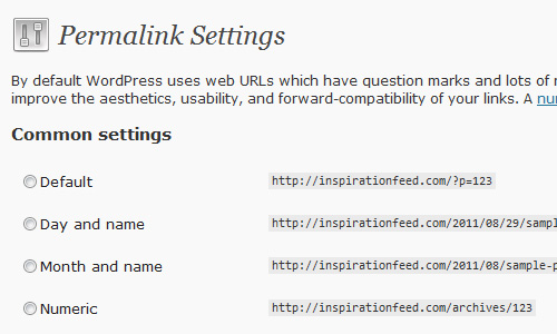 permalink settings 10 Things To Do After Installing Wordpress