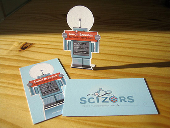 scizors business card l1 55 Unusual Yet Creative Business Card Designs