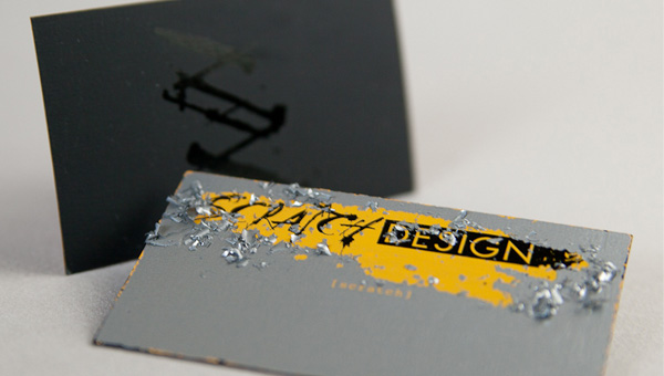scrath 55 Particolare e creativo Business Card Designs