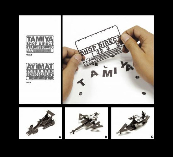 tamiya l1 55 Unusual Yet Creative Business Card Designs