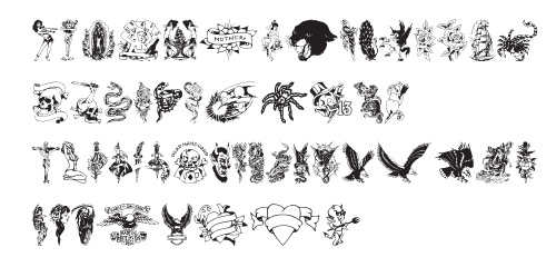 tattooparlor1 40 Free Highly Functional Dingbat Fonts