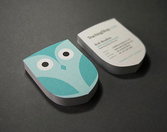 teaching shop business card1 55 Unusual Yet Creative Business Card Designs