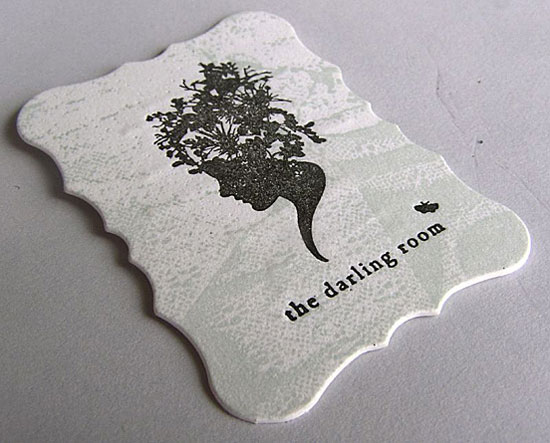 the darlling room l1 55 Unusual Yet Creative Business Card Designs