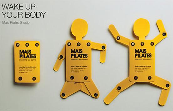svegliare il tuo corpo l1 55 Particolare e creativo Designs Business Card