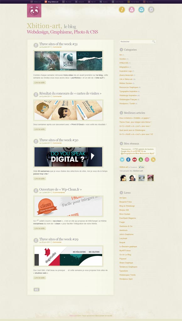 xbition art le blog1 40 Handsome Websites Powered by WordPress CMS | Inspirationfeed