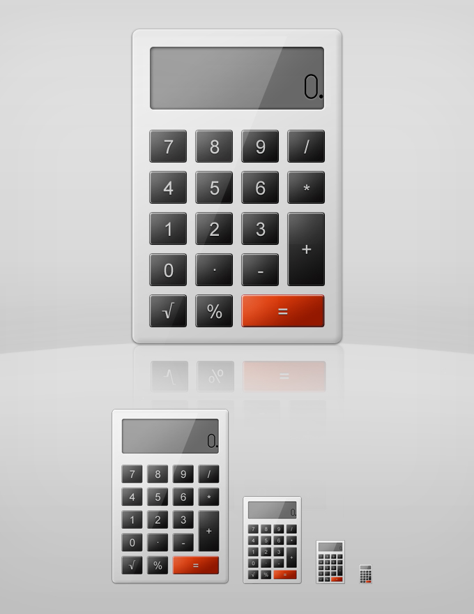 calculator1 60 Stunning Pixel Perfect PSD Freebies #2