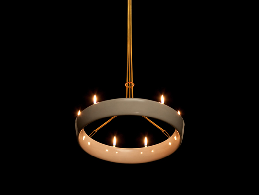 ceramic ring chandelier piet houtenbos1 60 Examples of Innovative Lighting Design