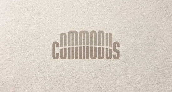 commodus l1 50 Excellent Text Oriented Logo Designs