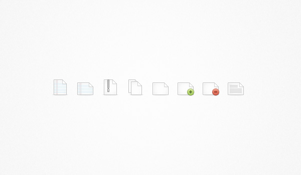 file icon set continued 60 Stunning Pixel Perfect PSD Freebies #2