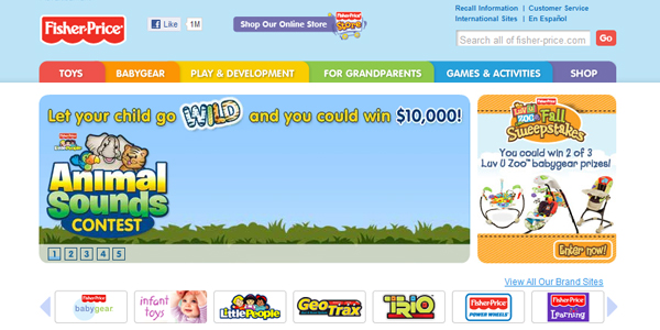 fisher price Designing a Child Friendly Website (Examples and Practices)