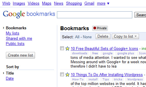 google bookmarks Top 30 Powerful Google Products You Need To Know