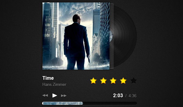 gorgeous music player 60 Stunning Pixel Perfect PSD Freebies #2