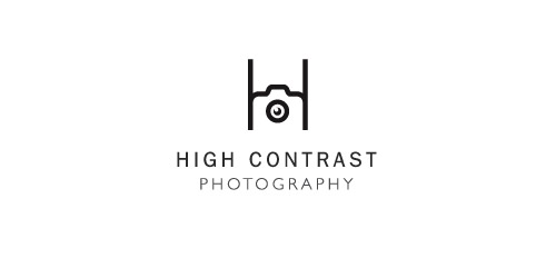 high contrast 611 51 Clever Camera and Photography Logo Designs