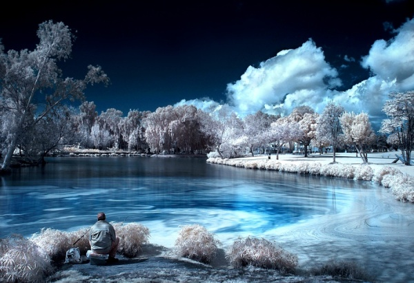 infrared photography fisherman11 45 Impressive Examples of Infrared Photography