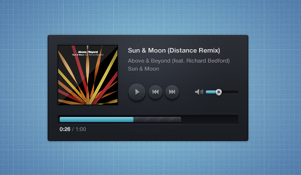 music player skin psd 60 Stunning Pixel Perfect PSD Freebies #2