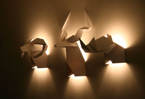 origami11 60 Examples of Innovative Lighting Design