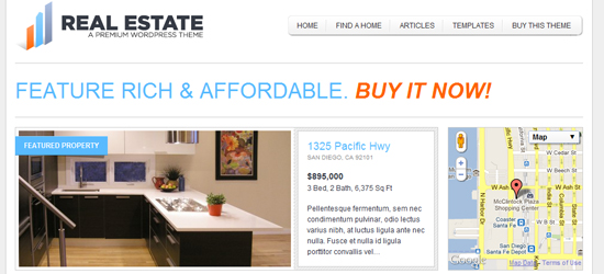 real estate 2 25 High Quality Real Estate Wordpress Themes