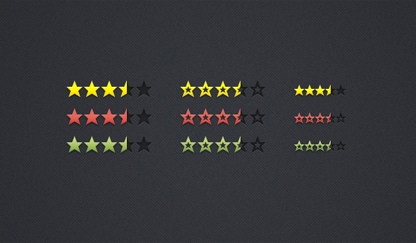 review rating stars 60 Stunning Pixel Perfect PSD Freebies #2