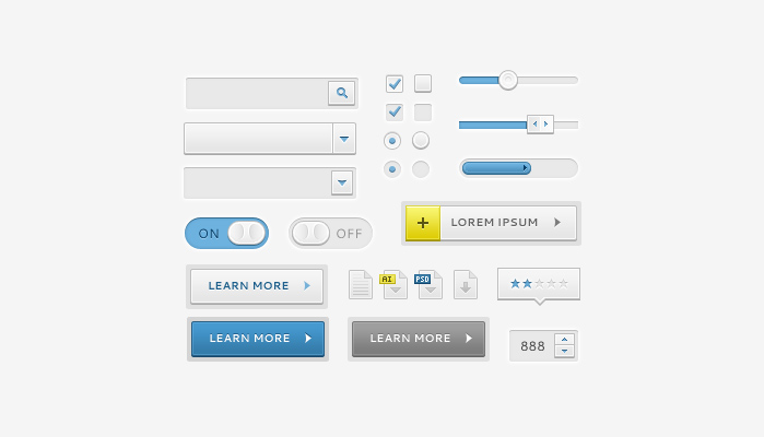 sleek ui elements preview1 60 Stunning Pixel Perfect PSD Freebies #2