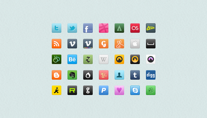 square social icons preview1 60 Stunning Pixel Perfect PSD Freebies #2