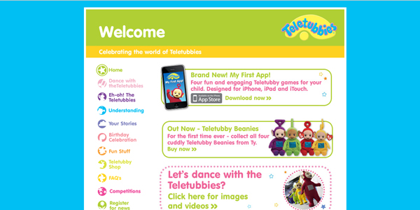 teletubbies Designing a Child Friendly Website (Examples and Practices)