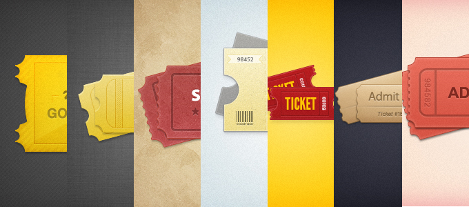tickets11 60 Stunning Pixel Perfect PSD Freebies #2
