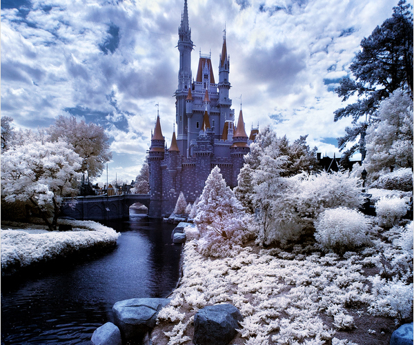 walt disney world infrared cinderella castle 45 Impressive Examples of Infrared Photography
