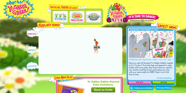 yo gabba gabba Designing a Child Friendly Website (Examples and Practices)